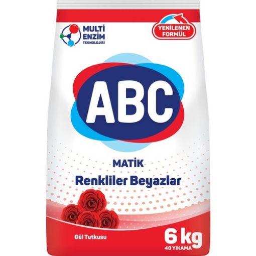 ABC MATİK TOZ DETERJN GÜL TUTKUSU 6 KG resmi